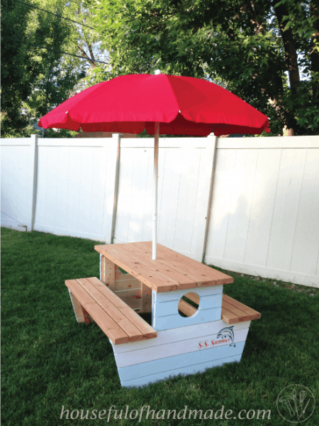 How to Build a Nautical Picnic Table for Bigger Kids
